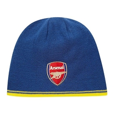 Puma Arsenal Reversible Soccer Beanie (Estate Blue/Yellow)