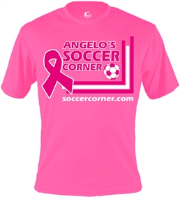 Official Soccercorner.com Breast Cancer Awareness Tee (Pink)