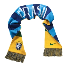 Nike Brasil Supporters Scarf (Varsity Maize/Varsity Royal/Pine Green)