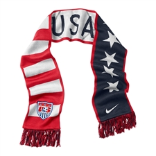 Nike USA Supporters Scarf (Obsidian/Sport Red/Wolf Grey/White)