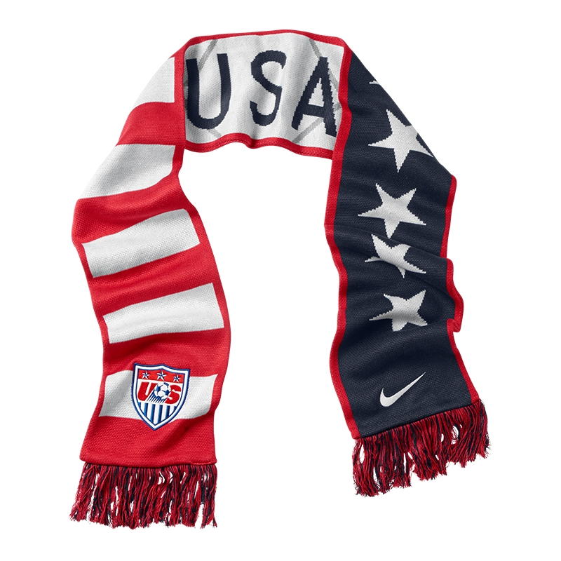 nike usa supporters scarf obsidian sport wolf grey white