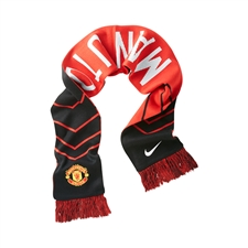 Nike Manchester United 2014-15 Supporters Scarf (Black/Diablo Red/White)