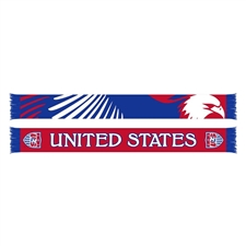 USA Eagle Scarf (Red/Blue/White)
