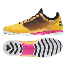 Adidas X 15.1 CT Indoor Soccer Shoes (Solar Gold/Black/Shock Pink)