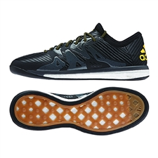 Adidas X 15.1 Street Indoor Soccer Shoes (Core Black/Core Black/Solar Gold)