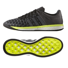 Adidas ACE 15.1 Boost Indoor Soccer Shoes (Black/Night Metallic/Solar Yellow)