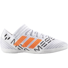 Adidas Nemeziz Messi Tango 17.3 Indoor Soccer Shoes (White/Solar Orange/Core Black)