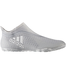 Adidas X 17+ PureSpeed Indoor Soccer Shoes (Clear Grey/White/Grey)