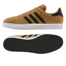 Adidas Originals Gazelle II Indoor Soccer Shoes (Wheat/Black/White)