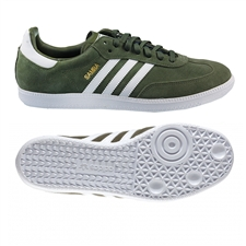 Adidas Samba Originals Indoor Soccer Shoe (Olive)