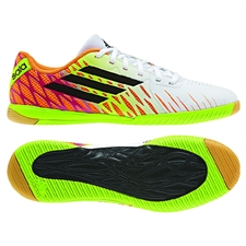 Adidas Freefootball SpeedTrick Indoor Soccer Shoes (White/Black/Solar Slime)