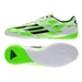 Adidas F10 Indoor Soccer Shoes (White/Rich Blue/Solar Green)