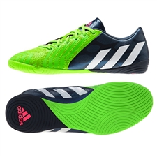 Adidas Predator Absolado Instinct Indoor Soccer Shoes (Rich Blue/White/Solar Green)