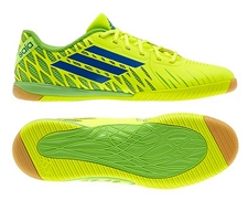 Adidas Freefootball SpeedTrick Indoor Soccer Shoes (Electricity/Blue Beauty/Ray Green)