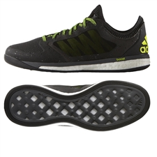 Adidas X 15.1 VS Boost Indoor Soccer Shoes (Black/Solar Yellow/Night Metallic)