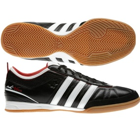 Adidas adiNOVA IV Indoor Soccer Shoes (Black/White/Light Scarlet)