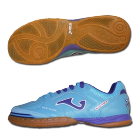 Joma Top Flex Indoor Soccer Shoes (Aqua/Purple/White)