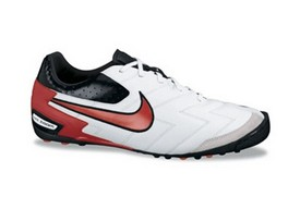 Nike 5 Zoom T-5 CT Indoor Soccer Shoes (White/MaxOrange/Black)