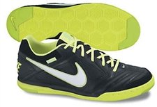Nike5 Gato Leather Indoor Soccer Shoes (Black/Volt/White)