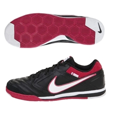 Nike5 Gato Leather Indoor Soccer Shoes (Black/White/Sport Red)