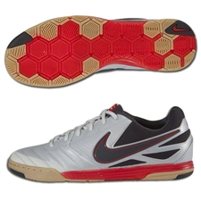 Nike5 Lunar Gato Indoor Soccer Shoes (Metallic Platinum/Challenge Red/Gum Light Brown/Dark Shadow)