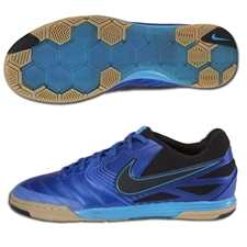 Nike5 Lunar Gato Indoor Soccer Shoes (Treasure Blue/Blue Glow/Gum Light Brown/Black)