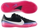Nike CR7 Mercurial Victory III Indoor Soccer Shoes (Black/White/Blue Glow/Pink Flash)