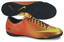 Nike Mercurial Victory IV Indoor Soccer Shoes (Sunset/Total Crimson/Black/Volt)