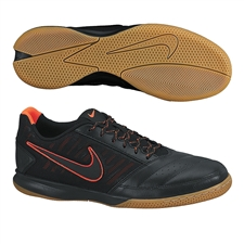 Nike FC247 Gato II Indoor Soccer Shoes (Black/Total Crimson/Gum Light)