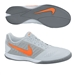 Nike FC247 Gato II Indoor Soccer Shoes (Pure Platinum/White/Cool Grey/Total Orange)