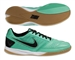 Nike FC247 Gato II Leather Indoor Soccer Shoes (Green Glow/Black/White)