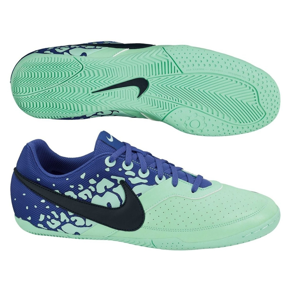 Nike FC247 Elastico II Indoor Soccer Shoes (Green Glow/Hyper Blue