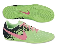 Nike FC247 Elastico II Indoor Soccer Shoes (Neo Lime/Black/Pink Flash)