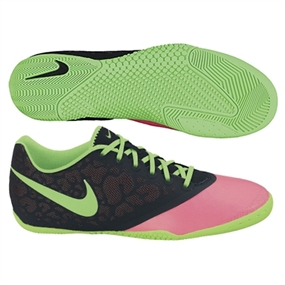 Nike FC247 Elastico Pro II Indoor Soccer Shoes (Pink Flash/Black/Neo Lime)