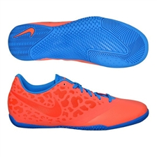 Nike FC247 Elastico Pro II Indoor Soccer Shoes (Bright Mango/Blue Glow)