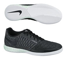 Nike FC247 Lunar Gato II Indoor Soccer Shoes (Black/White/Poison Green)