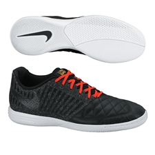 Nike FC247 Lunar Gato II Indoor Soccer Shoes (Black/Total Crimson)