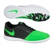 Nike FC247 Lunar Gato II Indoor Soccer Shoes (Black/Poison Green/White)