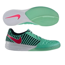 Nike FC247 Lunar Gato II Indoor Soccer Shoes (Green Glow/Pink Foil/Black)