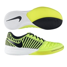 Nike FC247 Lunar Gato II Indoor Soccer Shoes (Volt/Black)