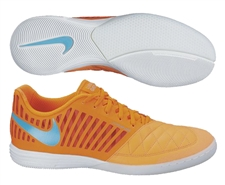 Nike FC247 Lunar Gato II Indoor Soccer Shoes (Atomic Orange/Total Orange/Gamma Blue)