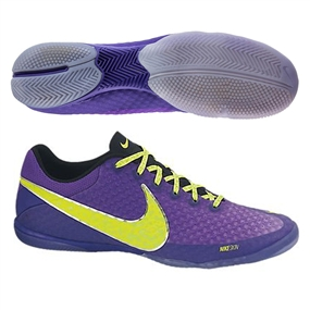 Nike FC247 Elastico Finale II Indoor Soccer Shoes (Pure Purple/Electric Green/Volt)