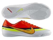 Sale $39.95 | Nike CR Mercurial Victory IV Indoor Soccer Shoes (White/Loyal Blue/Total Crimson/Volt)