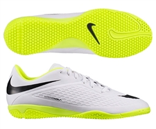 Nike Hypervenom Phelon IC Indoor Soccer Shoes (White/Volt/Black)