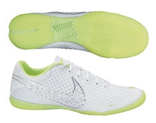 Nike FC247 Elastico Finale II Reflective Indoor Soccer Shoes (Reflective White/Volt/Metallic Silver)