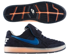 Nike Tiempo 94 Low Indoor Soccer Shoes (Obsidian/Sail/Atomic Orange/Green Abyss)