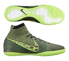 Nike Elastico Superfly IC Indoor Soccer Shoes (Midnight Fog/Black/Volt/Hyper Crimson)