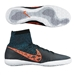 Nike Elastico Superfly IC Indoor Soccer Shoes (Black/Blue Lagoon/Dark Grey/Total Crimson)