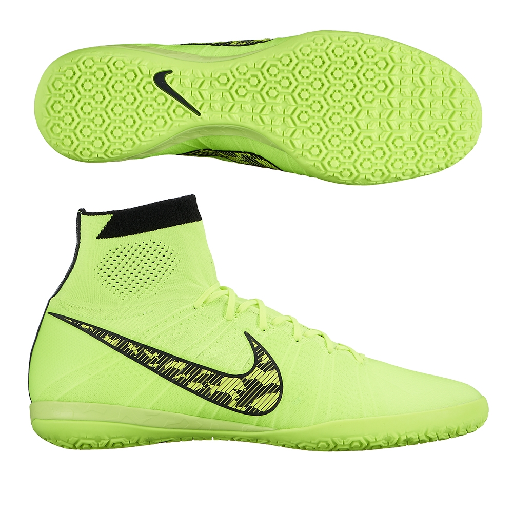 nike elastico superfly ic indoor soccer shoes volt black