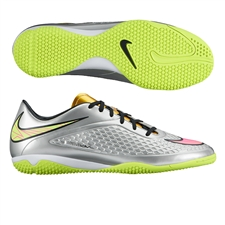 Nike Hypervenom Phelon Premium IC Indoor Soccer Shoes (Chrome/Metallic Gold Coin/Hyper Pink)